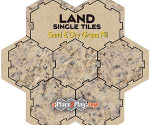 Land - Fill with Sand and Dry Grass